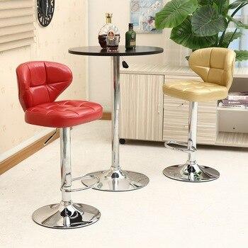 цены European Bar Chair Lifting Rotating Cashier High Stool Household Beauty Front Desk Back