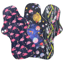 3 шт. очень большие гигиенические прокладки бамбуковый уголь интенсивный поток менструальные прокладки для ночного использования тканевые прокладки многоразовые гигиенические салфетки