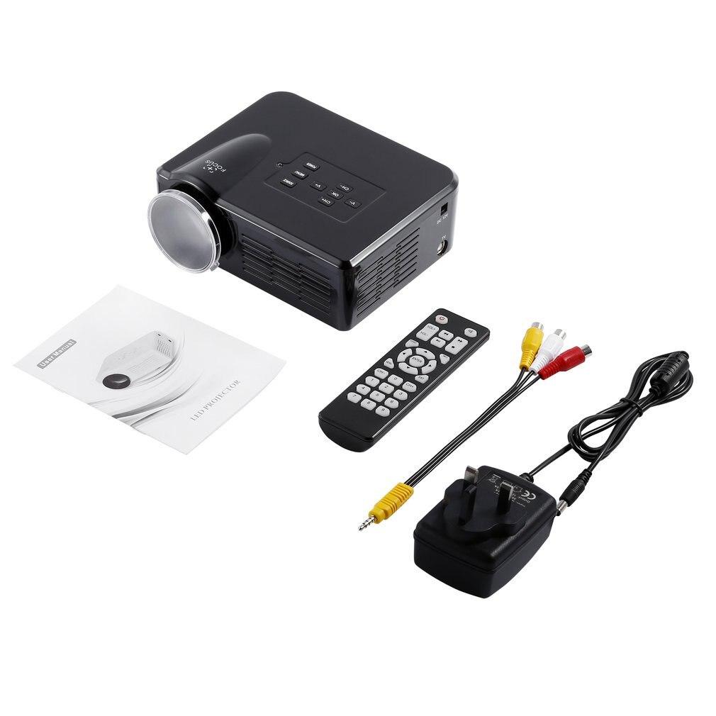 מיני LED וידאו מקרן נייד טלוויזיה DVD משחק מקרנים LCD HD וידאו 3D בית חינוך תיאטרון HDMI VGA AV USB מקרן BL-35
