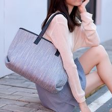 Vento Marea Large Capacity Leather Shoulder Bag Women Handbag Designer Casual Lady Tote Woolen Fabric Female Pink Brief Purses