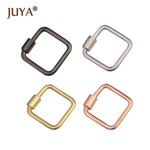 Juya ювелирные изделия квадратные спиральные застежки трендовые аксессуары Pedant коннекторы для DIY ожерелья браслеты аксессуары ручной работы