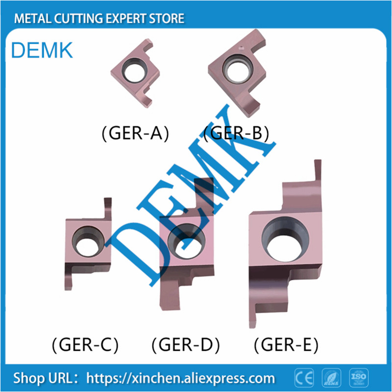 GER100-400 Inside Groove Carbide Turning Inserts.GER 100 150 200 250 300 350 400-A B C D Suit For Grooving Turning Tools SIGER