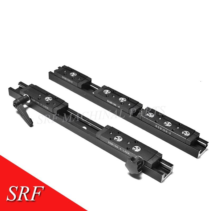 2pcs 28mm width Rectangle Roller Linear Guide Rail SGR10N L=530mm+2pcs SGB10N-4UU slide block