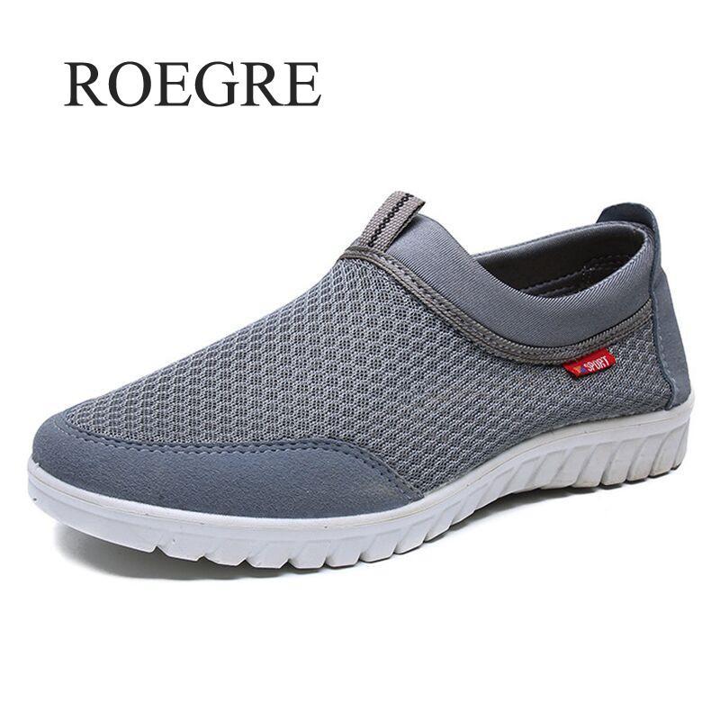 2019 Novo Verão Malha Respirável Sapato Tênis Para Os Homens Sapatos Casuais Slip-On Sapatos Masculinos dos homens Sapatos Casuais Andando Tamanho 38-48
