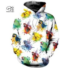 PLstar Cosmos Parrot Art Animal Tracksuit 3DPrint Hoodie/Sweatshirt/Jacket/shirts MenWomen Casual Harajuku camo colorful style-6