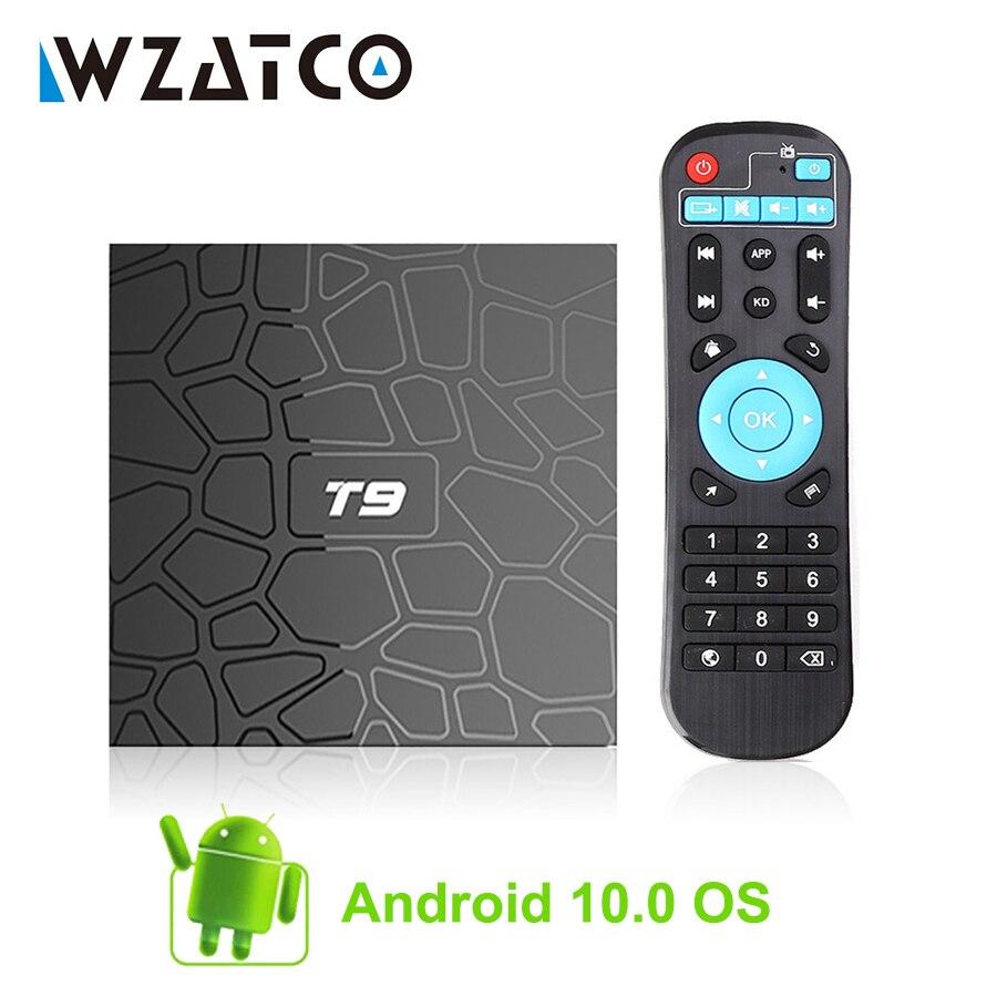 ТВ-приставка T9, Android 10,0, 4 + 32/64 ГБ, Rockchip 1080P H.265 4K, 2 + 16 Гб