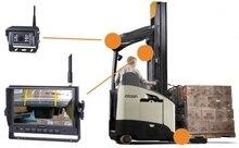 Wózek widłowy kamery i MONITOR systemu