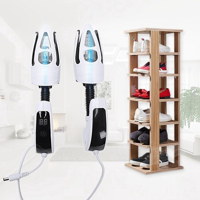 Electric Shoe Dryer Deodorant UV Shoe Sterilizer LED Screen Timer Press Switch Shoe Dryer UK Plug Shoe Racks & Organizers     - title=