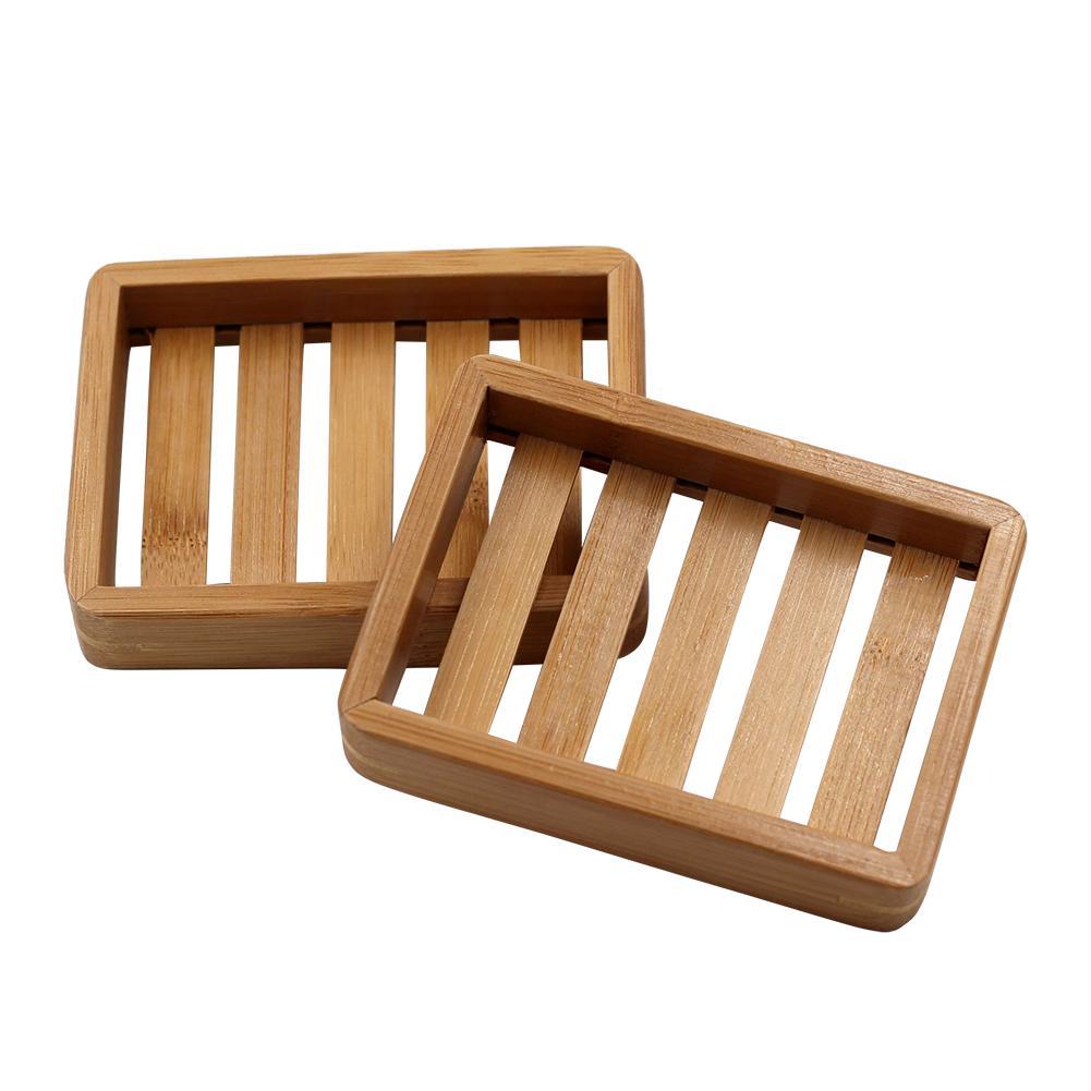 AIHOME Creative Simple Wood Handmade Drain Soap Box Soap Tray Bathroom Bathroom Japanese Style Wooden Soap Box Soap Holder
