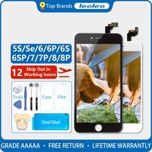 לבן & שחור חיים אבטחת AAAAA עבור iPhone 6S בתוספת 6S + 5.5 LCD תצוגת מסך מגע digitizer עצרת עם 3D מגע
