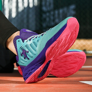Image 5 - 2019 New Mesh Breathable Basketball Shoes, Fashion Basketball Wear Sneakers Men,Flying Woven Upper Is Soft and Comfortable