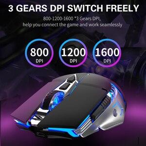 Image 3 - Wiederaufladbare Bluetooth Wireless Gaming Maus mit Seite Tasten 3 Modi (BT5.0, BT 3,0 und 2,4G) ergonomische Mäuse für PC Laptop