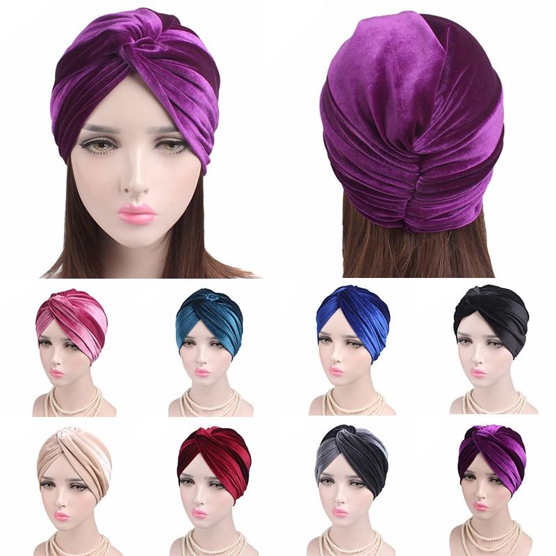 New Muslim Hijab Cross Turban Inner Hijab Caps Islamic Hijab Scarf Hat Wool Headband Turban Headwrap Women Muslim Turban Hijabs