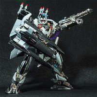 BMB transformación Robot negro Mamba LS01 LS-01 Oversize 27cm de Metal de aleación TF Nitro Zeus avión película KO MODELO DE figura de acción Juguetes