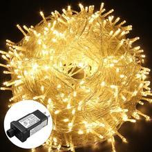 100 м 800 светодиодов Сказочный светильник s Водонепроницаемый 24 В Рождественская гирлянда праздничный светильник для наружного/внутреннего украшения свадебной вечеринки