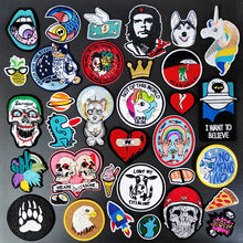 Kat Vis Diy Cartoon Badges Kleden Borduren Patch Applique Strijken Kleding Naaien Levert Decoratieve Patches Voor Kleding(China)