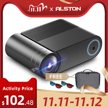 ALSTON YG420 Full HD Support 1080P Projector 3800 Lumens Home Theater Video Beamer Proyector HDMI VGA AV USB with gift