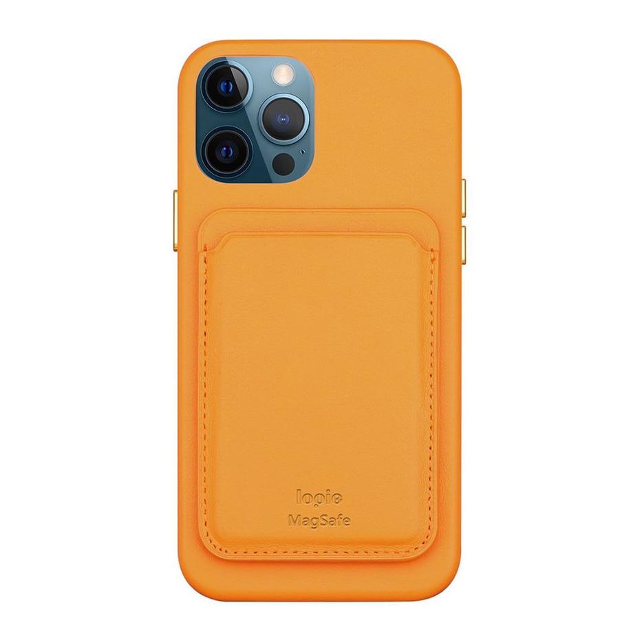 Original Leather Magnetic Card holder for iPhone 1212Mini12 Pro12 Pro Max Magsafe Case Back Wallet Card Pocket Holder (6)