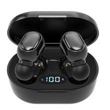 PJD TWS bezprzewodowe słuchawki Bluetooth słuchawki z redukcją szumów wodoodporny wyświetlacz LED ekran słuchawka douszna 3D słuchawki Stereo