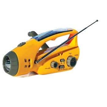 Hand-Crank Emergency Radio, Flashlight, Beacon, Cell Phone Charger