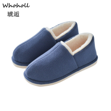 Whoholl Brand Women Winter Warm Home Slippers Non-slip Shoes Men Indoor Floor Bedroom Lovers Couple Plush House 38-44