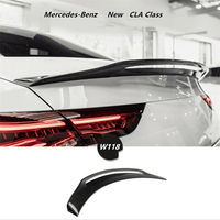 Carbon Fiber Spoilers For Mercedes Benz W118 CLA Class 2019 2020 2021 Wing Lip Spoiler High Quality Car Accessories