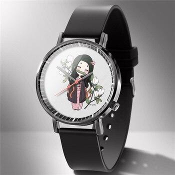 2020 New Anime Demon Slayer Kimetsu no Yaiba Wristwatch For Women Watch Watches Quartz Wristwatch Female Clock Brithday Gifts 01