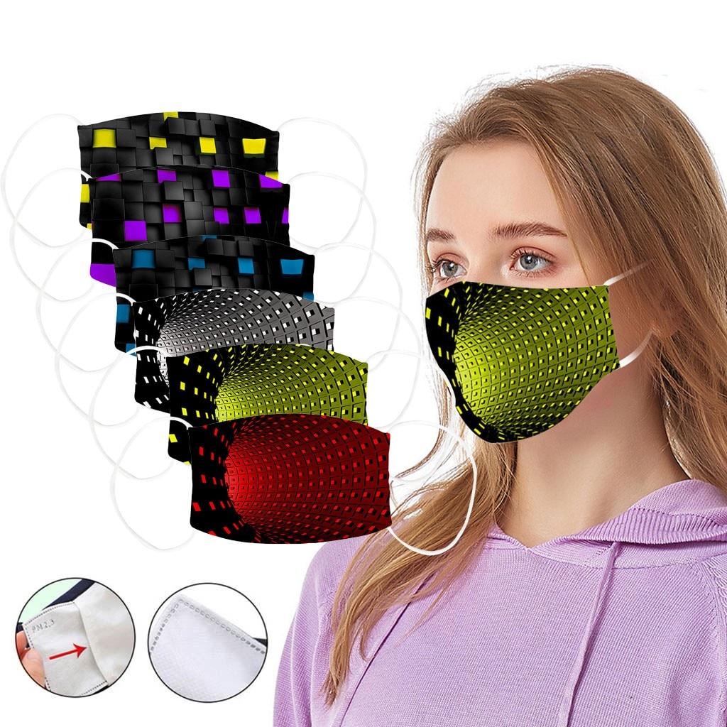 In Stock Unisex Print Ice Silk FaceCovers Dustproof Against-fog Reusable FaceCover Mascarillas Mascara Mondkapje Camping Maska