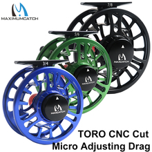Maximumcatch TORO 3-8WT Fly Fishing Reel Micro Adjusting Drag CNC Machined Cut 6061-T6 Aluminum Fly Reel