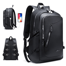Fashion PU Leather Backpack Shcool Women Men Male 15.6 Laptop Backpacks Waterproof Notebook USB Charging Bagpack Bag Back Pack 2017 high quality laptop bag 15 6 notebook backpack women backpacks mochilas male back pack waterproof computer notebook bag
