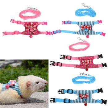 Hamster Rabbit Harness Leash Set For Ferret Guinea Pig Small Pet Chest Strap