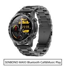 SENBONO MAX3 2021 New Men Smart Watch Women Full Touch Screen Bluetooth Call Music Player Fitness Tracker Smartwatch for phone