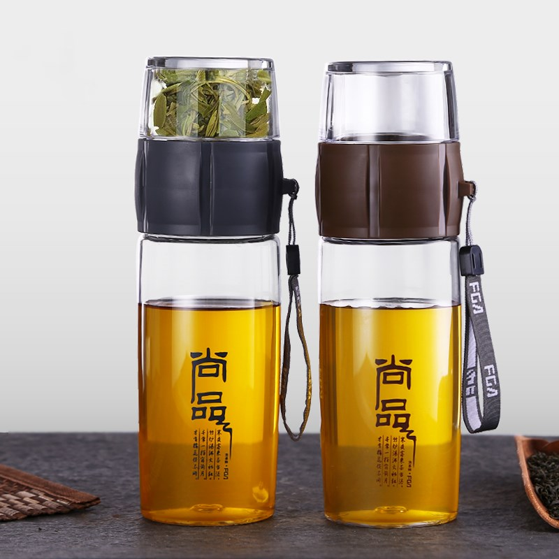 400ML Plastic Sports Water Bottle Tea Infuser Bottle Portable Kung Fu Teapot Chinese Tea Strainer For Outdoor Travel Gym Fitness