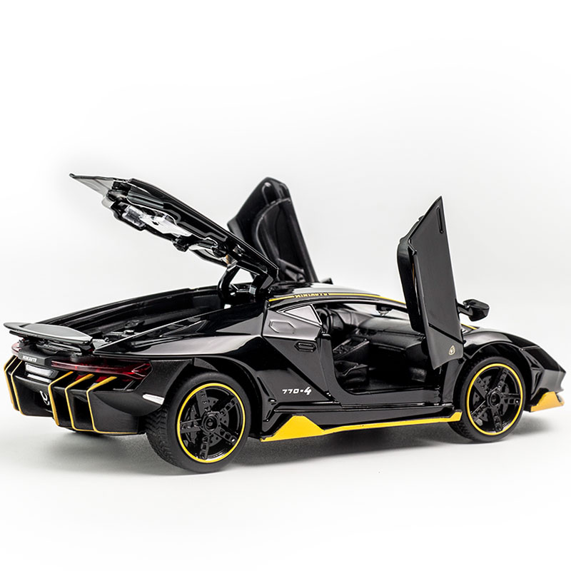 Hot LP770 1:32 <font><b>Car</b></font> Alloy Sports <font><b>Car</b></font> <font><b>Model</b></font> Diecast Sound Light Super Racing Lifting Tail <font><b>Car</b></font> <font><b>Wheels</b></font> Toys For Children image