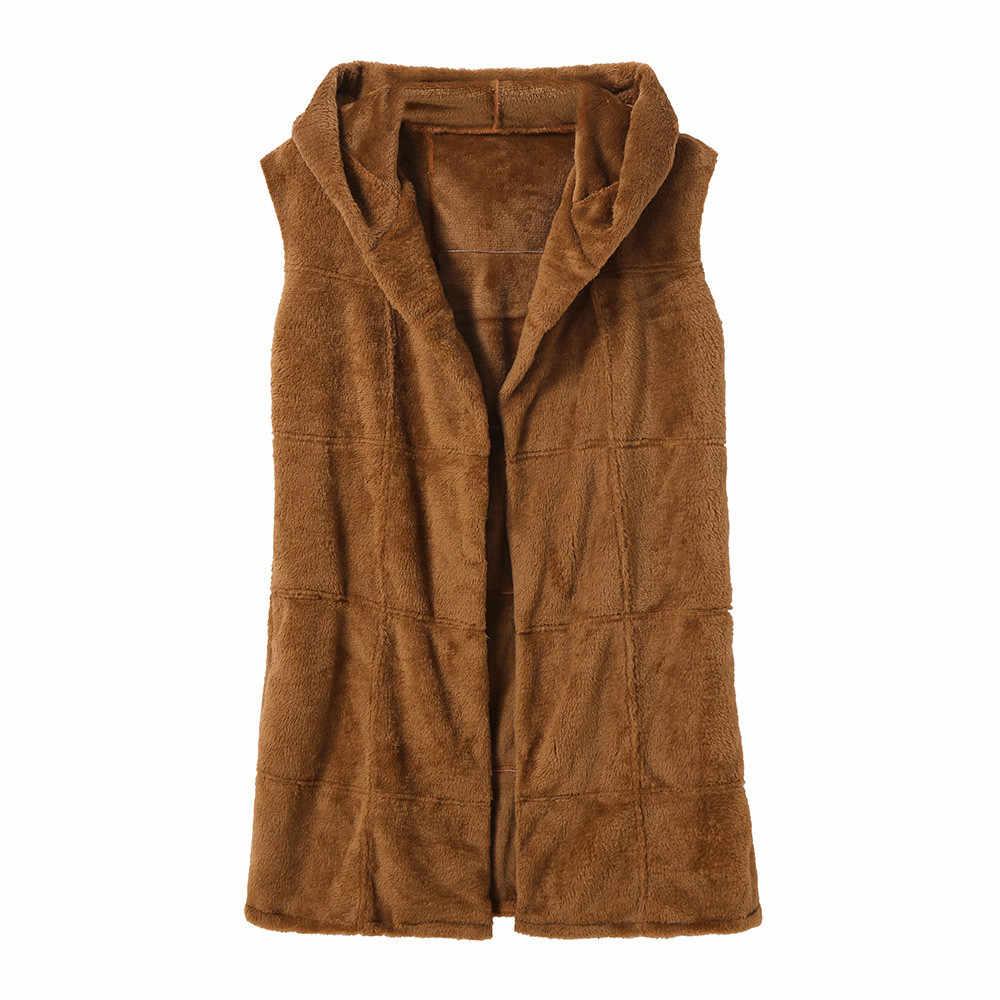 Kış vizon taklit kürk yelek rahat sıcak kış ceket ince futerko yumuşak kürk ceket kadın orta uzun yapay tilki kürk mantolar