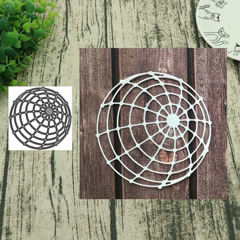 Spider Web Cutting Dies Stencil Scrapbooking Paper Card Embossing Craft DIY