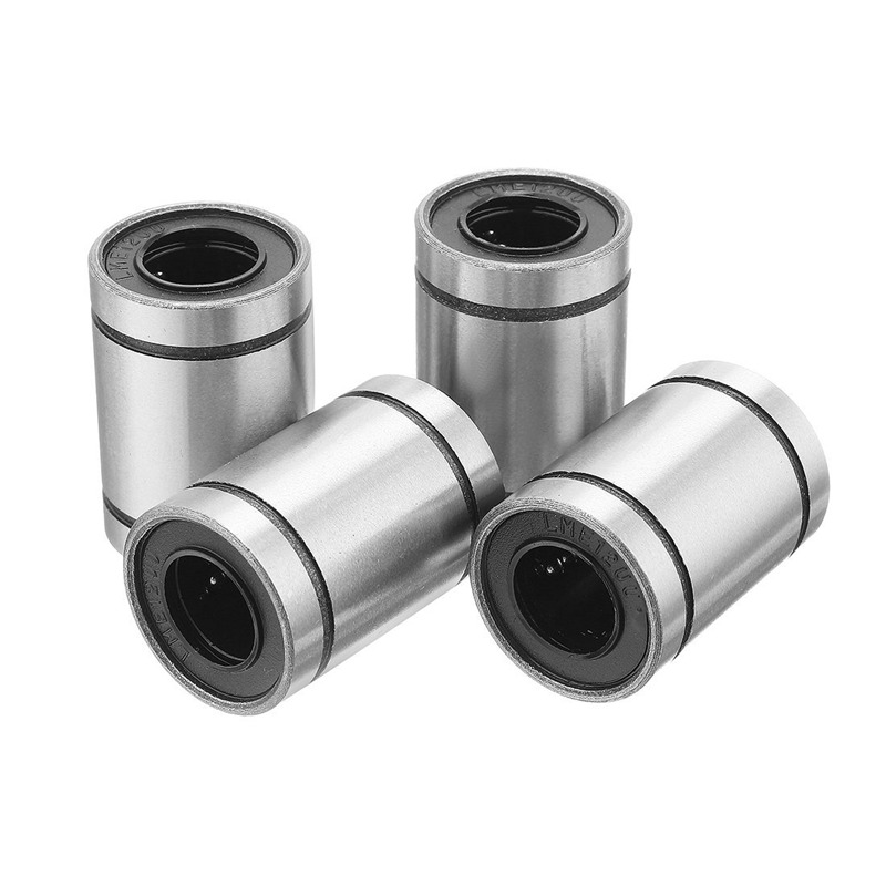4 Pcs LM12UU 12x22x32mm Double Side Rubber Seal Linear Motion Ball Bearing