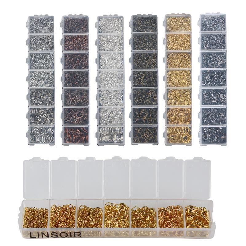 Anneaux pour fabrication de bijoux 3, 4, 5, 6, 7, 8 et 10 mm, accessoire de bijouterie et bricolage, travaux manuels à faire soi-même, 1010-1450 pièces, couleur or ou argent