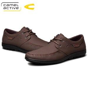 Image 5 - 낙타 활성 새로운 정품 가죽 남성 신발 여름 가을 비즈니스 캐주얼 신발 경량 편안한 레이스 업 편안한 신발