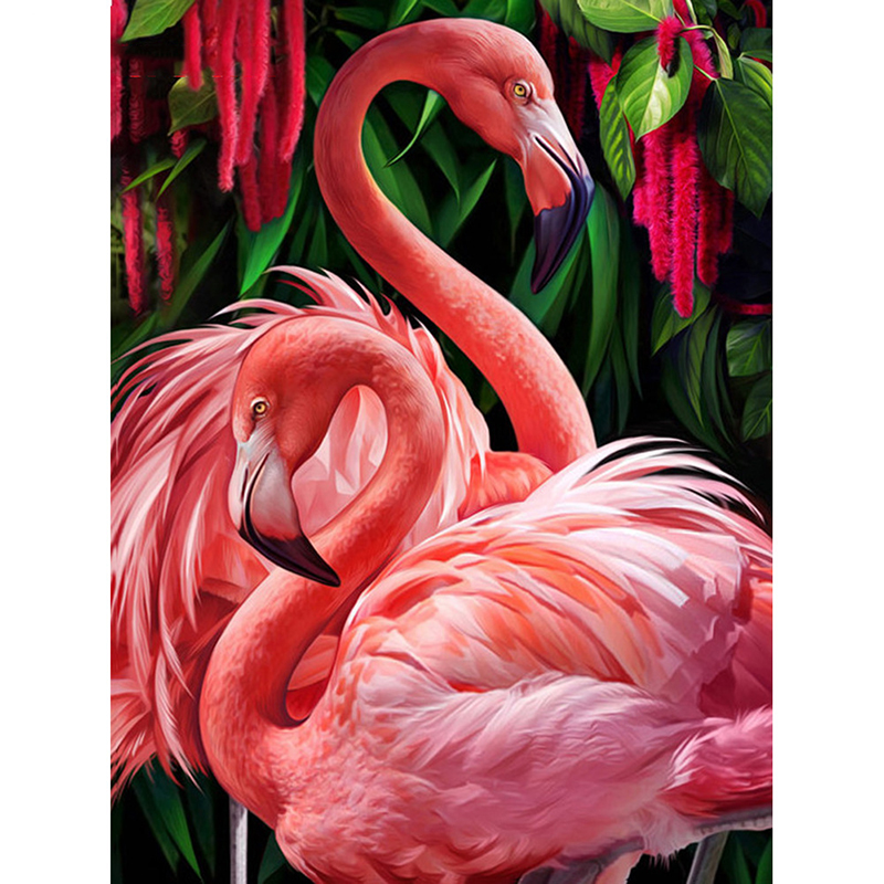 Diamant Schilderij Flamingo Volledige Boor Vierkante Dier 5D Diamant Borduurwerk Strass Foto Diamant Mozaïek Gift Drop Ship|Diamond Schilderen Kruissteek|   - AliExpress