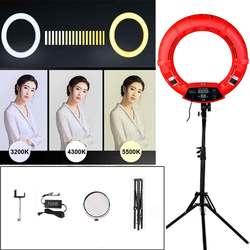 Yidoblo FD-480II 96W Studio Dimmable LED Ring lamp Kit 480 LEDs Video Light Lamp Photographic Lighting + stand (2M)+ bag