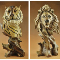 Resin animal head crafts, wolf, horse, eagle, tiger, lion, birthday present, home office decoration