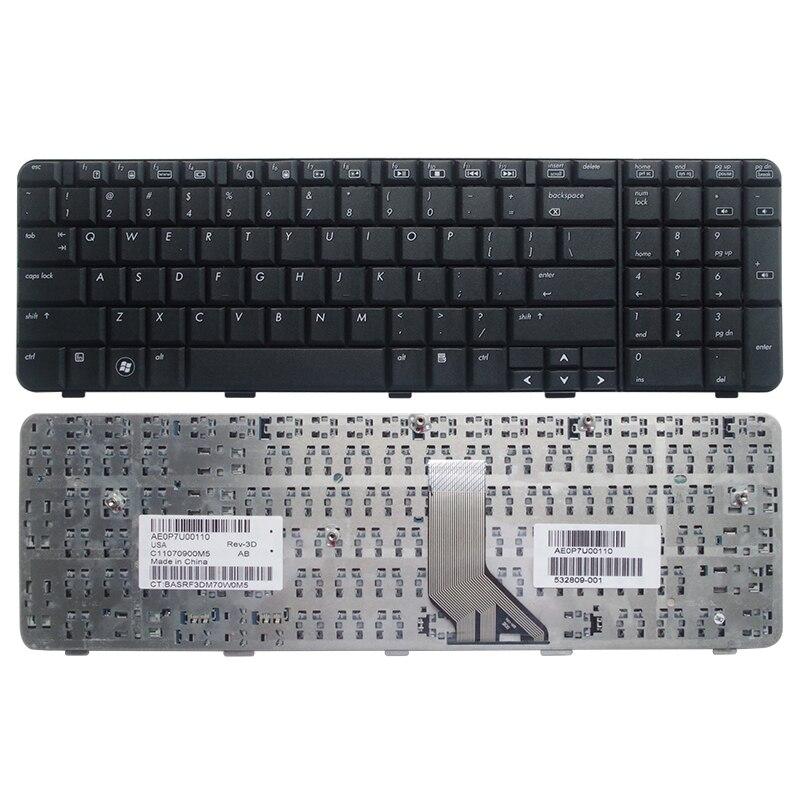 Клавиатура ноутбука США для HP Pavilion G71 Compaq Presario CQ71 CQ71-100 CQ71-200 на английском языке 517627-001 черная рамка 532809-001