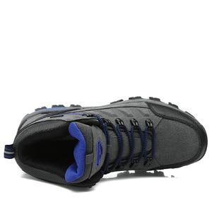 Image 2 - JUNJARM Heißer Verkauf Winter Stiefel Männer Schuhe Wasserdichte Outdoor Schnee Stiefel Pelz Warme Casual Männer Schuhe Nicht Slip Männer Turnschuhe