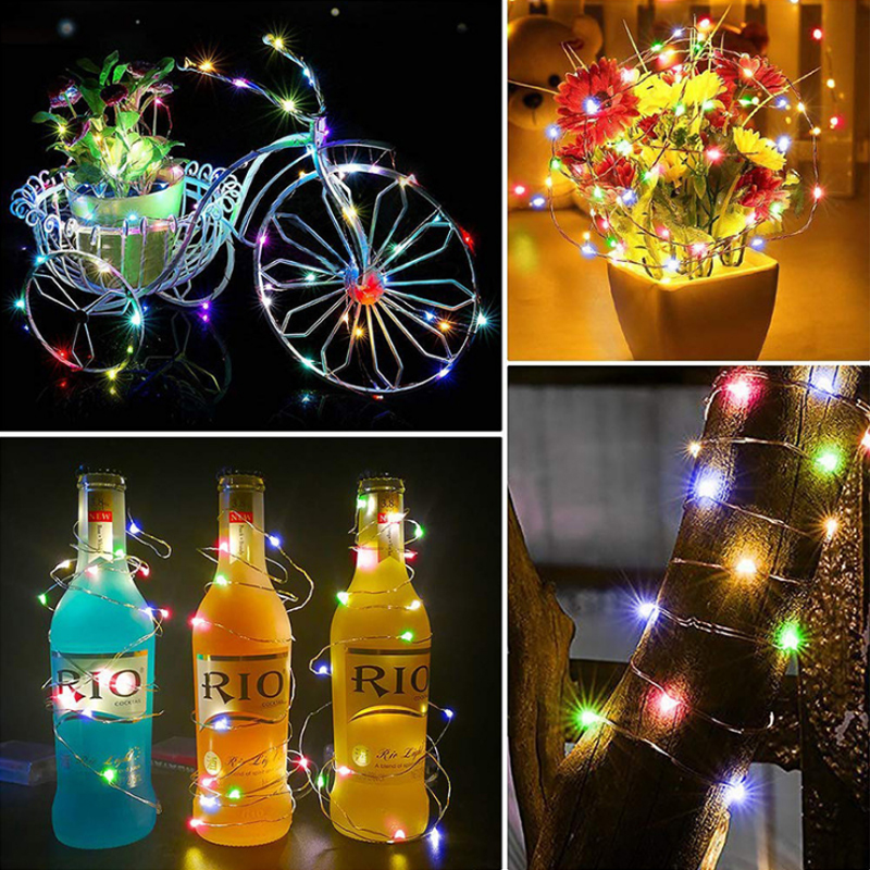 New Battery USB 2M 3M 5M 10M LED Lamp String Copper Lamp Fairy Lantern Christmas Party Photo Wall Garland Garden Decorative Lamp