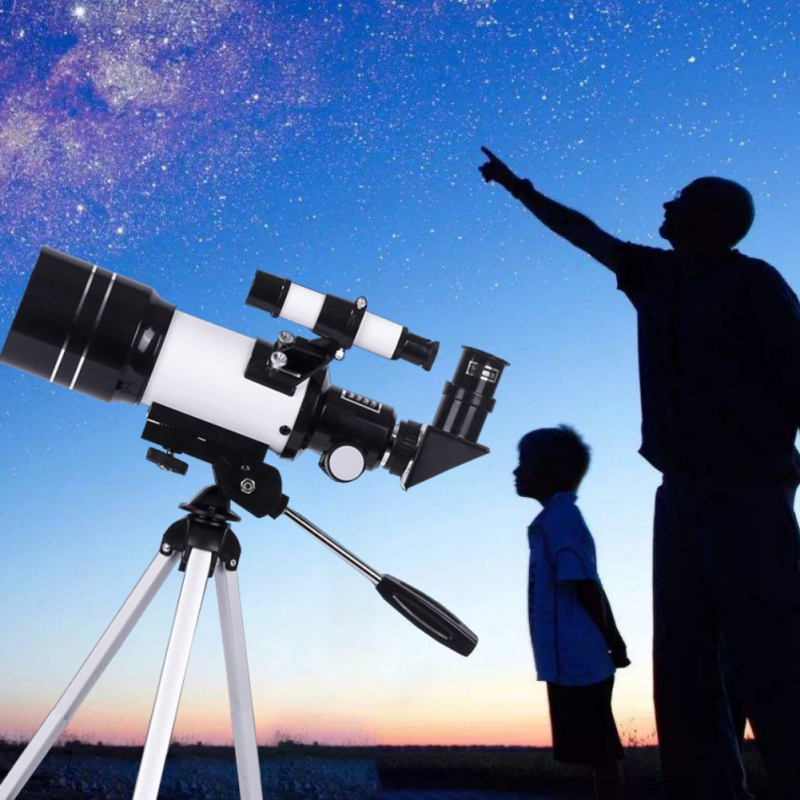 Professional Zoom HD Night Vision 150X Refractive Deep Space Moon Watching Gifts Astronomical Telescope Monocular