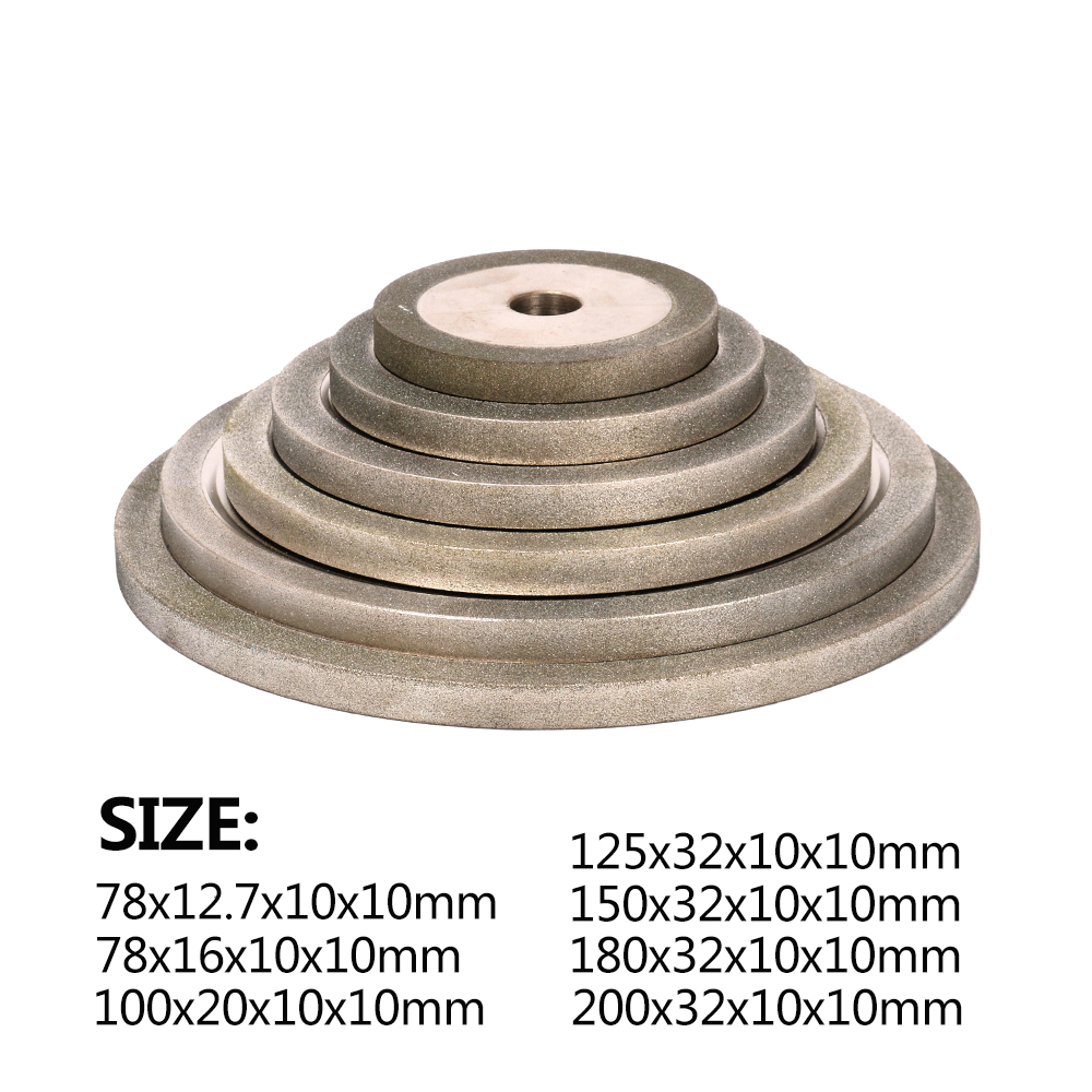 3Inch ~ 8Inch Electroplating Diamond Coated Grinding Wheel Carbide Grinder 150-600 Grit