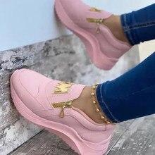 Płaskie buty damskie na co dzień platformy trampki damskie 2021 wiosna Chaussure Femme Talon ślubne buty damskie na platformie Zapatillas
