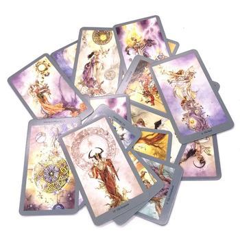 78 Uds. Baraja de cartas de Tarot inglés para divertido juego de mesa de fiesta familiar juego de cartas de Tarot baraja juegos de mesa regalo de entretenimiento