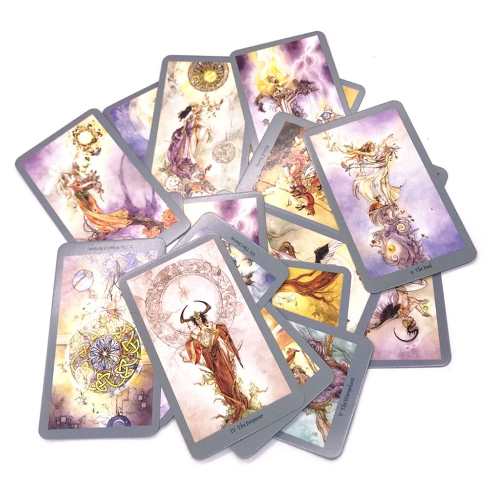 78pcs English Tarot Cards Deck For Funny Family Party Board Game Playing Card Tarot Deck Table Games Entertainment Gift